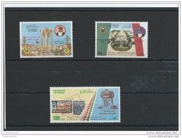 OMAN 1986 - YT N° 283/285 NEUF SANS CHARNIERE ** (MNH) GOMME D'ORIGINE LUXE - Oman