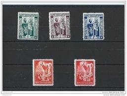 BULGARIE 1937 - YT N° 290/294 NEUF SANS CHARNIERE ** (MNH) GOMME D'ORIGINE LUXE - Ungebraucht