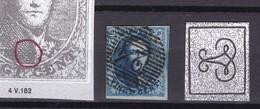 N°  4 Margé : VARIETE CERCLE   Position 182 De La Planche - 1849-1850 Médaillons (3/5)