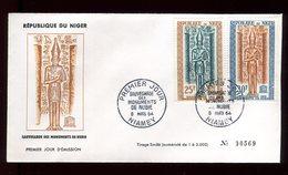 Niger - Enveloppe FDC 1964 -Monuments De Nubie - O 284 - Niger (1960-...)