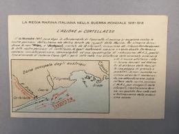 WARSHIP  KRIEGSCHIFFE  VIRIBUS UNITIS  CORTELLAZZO  LA REGIA ITALIANA NELLA GUERRA MONDIALE 1915-1918. MAP - Guerra