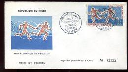 Niger - Enveloppe FDC 1964 - Jeux Olympiques De Tokyo - O 286 - Niger (1960-...)