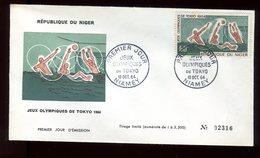 Niger - Enveloppe FDC 1964 - Jeux Olympiques De Tokyo - O 287 - Niger (1960-...)
