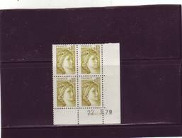 N° 1971 -0,80F Sabine De GANDON - 5° Tirage Du 16.3.79 Au 26.3.79 - 22.03.1979 (2 Traits) - 1970-1979