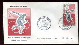 Niger - Enveloppe FDC 1964 - Jeux Olympiques De Tokyo - O 288 - Niger (1960-...)
