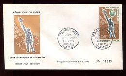 Niger - Enveloppe FDC 1964 - Jeux Olympiques De Tokyo - O 289 - Niger (1960-...)