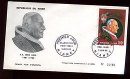 Niger - Enveloppe FDC 1965 - Pape Jean XXIII - O 290 - Niger (1960-...)