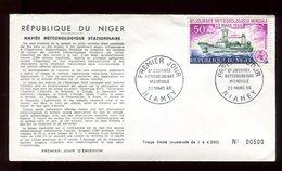 Niger - Enveloppe FDC 1966 - Navire Météorologique - O 292 - Niger (1960-...)