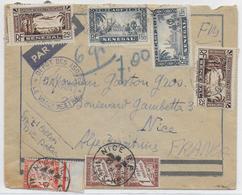 1941 - SENEGAL - ENVELOPPE FM Par AVION Du DEPOT Des ISOLES De DAKAR => NICE Avec TAXE - Marcophilie (Lettres)