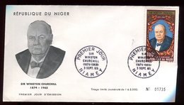 Niger - Enveloppe FDC 1965 - Sir Winston Churchill - O 293 - Niger (1960-...)