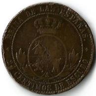 Pièce De Monnaie 2 1/2 Centimos De Escudo 1868 - Monnaies Provinciales