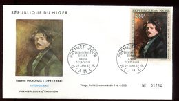Niger - Enveloppe FDC 1967 - Oeuvre De Delacroix - O 294 - Niger (1960-...)