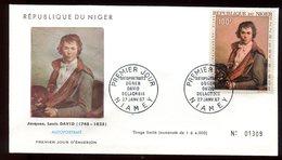 Niger - Enveloppe FDC 1967 - Oeuvre De David - O 295 - Niger (1960-...)