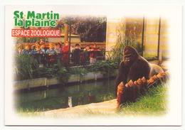SAINT MARTIN LA PLAINE ESPACE ZOOLOGIQUE GORILLE - Monos