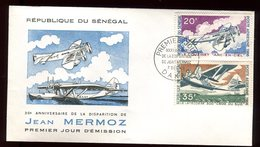 Sénégal - Enveloppe FDC 1966 - Aviation / Mermoz - O 300 - Sénégal (1960-...)