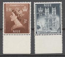 Niue 1953 Mi# 85-86* QUEEN ELIZABETH II CORONATION - Niue