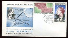 Sénégal - Enveloppe FDC 1966 - Aviation / Mermoz - O 301 - Sénégal (1960-...)