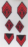 Lot 6 Insignes Militaires 43eme - Ecussons Tissu