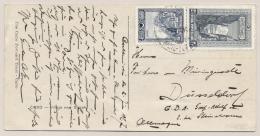 Turkiye / Turkije - 1927 - 2,5 & 5 Grh Stamp On Postcard To Düsseldorf / Deutschland - 1921-... Republiek