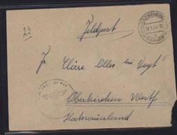 Feldpost Soldat Allemand Dans Hôpital Militaire Kriegslazarett CAD Herzogenbuch Dienstpost 17 1 44 Pays Bas World War II - 1891-1948 (Wilhelmine)