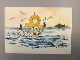 Cartolina Illustrata Accademia Navale 5° Corso Preliminare Navale 1941.  ITALIA WAR  KRIEG  SHIP  BOAT SCHIFFE  PASQUAL - Guerra