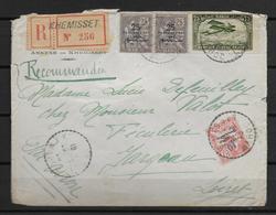 1923 - MAROC - MOUCHON Sur ENVELOPPE RECOMMANDEE AVION De KHEMISSET  => PARIS - Morocco (1891-1956)