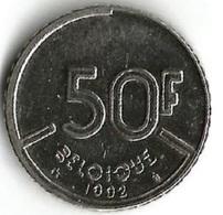 1 Pièce De Monnaie 50 Francs 1992 Belgique Fr - 1951-1993: Baudouin I