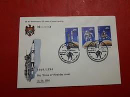La Moldavie Fdc 25 Ans De L'arrivée à La Lune 1994 - Moldavie