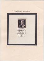GERMANY CZECH.B.&M. 1943 (28.5.) MOUNTED HEYDRICH SHEET PM BUDWEIS - Germany