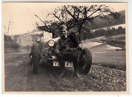 AUTO CAR VOITURE MILITARE SU BUGATTI MOD. 35? -  FOTO ORIGINALE - Cars