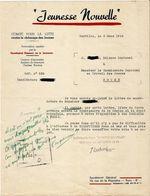 Document Vichy Secretariat Général De La Jeunesse ROUEN . 1942 - Historical Documents