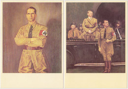 GERMANY 1938 PICT.PC (2) RUDOLF HESS - Allemagne