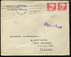 Cover Reykjavik 1935 To France With Paquebot - 1918-1944 Unabhängige Verwaltung