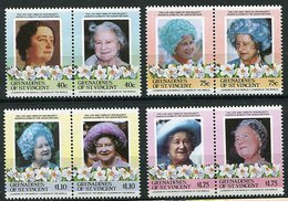 Grenadines De St Vincent ** 424 à 431 Se Tenant Par Valeur Identique - 85 Ans De La Reine-mère Elizabeth - St.Vincent & Grenadines