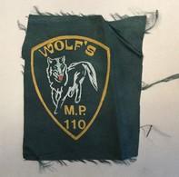 CROATIA   PATCH   INSIGNE   WOLF'S  MILITARY POLICE 110. BRIGADA ZNG - Stoffabzeichen