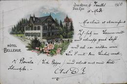 CPA - Les Trois-Épis Est Un Hameau Partagé Entre Les Com. D'Ammerschwihr Turckheim Et Niedermorschwr - Hôtel BELLEVUE - Turckheim
