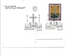 VATICAN 1974 OBLITERATION ANNEE SACREE - Marcophilie - EMA (Empreintes Machines)