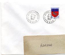 COTE D'OR - Dépt N° 21 = VILLARGOIX 1968 = CACHET MANUEL A9 - Postmark Collection (Covers)