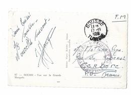 1958 SOUSSE TUNISIE 4e REGIMENT DE TIRAILLEURS TUNISIEN Sur Carte SOUSSE - Postmark Collection (Covers)