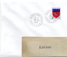 COTE D'OR - Dépt N° 21 = VIC Sous THIL 1968 = CACHET MANUEL A9 - Postmark Collection (Covers)