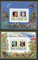 Grenadines De St Vincent ** Blocs 12/13 - 85 Ans De La Reine-mère Elizabeth - St.Vincent & Grenadines