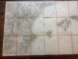 ESPAGNE - CUENCA , VALENCIA , ISLAS BALEARES - ( 1834 ) - RARE. - Cartes Géographiques