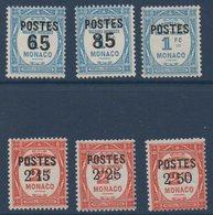 MON 1937 Timbres Taxe Surchargés ... Les Bonnes Valeurs   N°YT 148-153  ** MNH - Nuovi