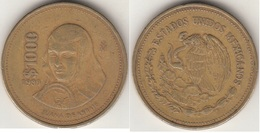 Messico 1000 Pesos 1989 Juana De Asbaje Km#536 - Used - Messico