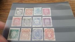 LOT 418223 TIMBRE DE FRANCE OBLITERE N°526 A 537 VALEUR 38 EUROS - France