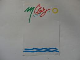 Feuille Papier Sur Le Club Med. - Publicidad