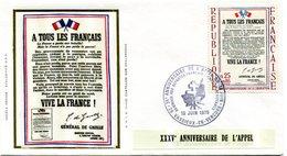 Thème Général De Gaulle - Bureau Temporaire Vassieux En Vercors Du 18 Juin 1975 - X 296 - De Gaulle (General)