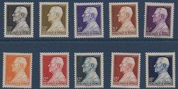 MON 1948/1949 Prince Louis II   N°YT302-306  ** MNH - Monaco