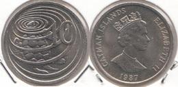 Cayman Islands 10 Cents 1987 Hawksbill Turtle Km#89 - Used - Cayman Islands