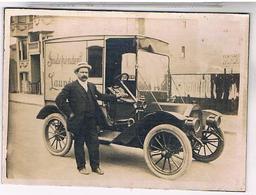 Etats Unis 1920 PHOTO 180X128 SUR CARTON AUTO DE LIVRAISON FORD  OU??? - Cafés, Hôtels & Restaurants